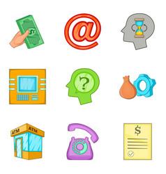 Croupier icons set cartoon style vector
