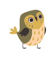 Cute adorable owlet bird cartoon character vector