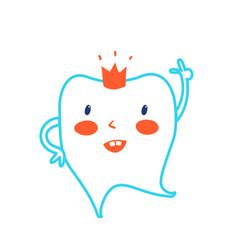 Cute healthy tooth kids cartoon for dental care vector