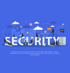Cyber security flat composition vector