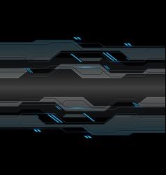 dark grey metallic cyber circuit with blue light vector image