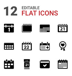 date icons vector image