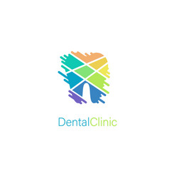 dental clinic stylized tooth logo concept vector image