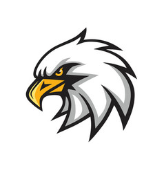 Eagle mascot logo sign vector