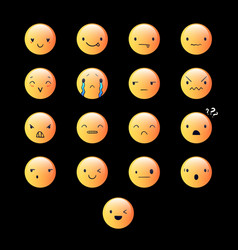 Emoticons round yellow 7 vector