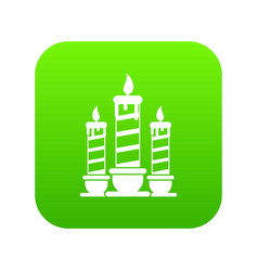 festive candles icon digital green vector image