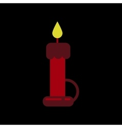 Flat icon on background of wax candle vector