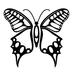 Fluttering butterfly icon simple style vector