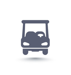 Golf cart car icon isolated on white vector