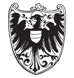gothic heraldic eagle was designed by albrecht vector image