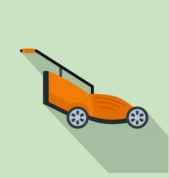 Grass cutter icon flat style vector