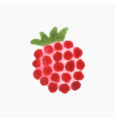 Hand-drawn raspberry Real watercolor drawing vector