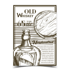 Handcrafted old whiskey advertising banner vector