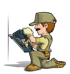 Handyman Nailing Khaki vector image