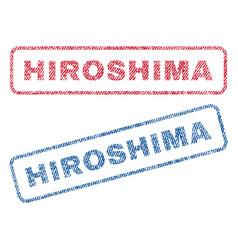 Hiroshima textile stamps vector