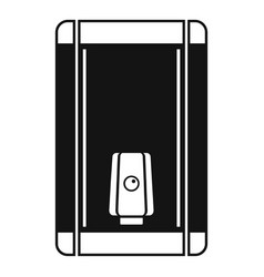 home heater boiler icon simple style vector image