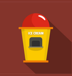Ice creme trade point icon flat style vector