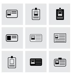 id card icon set vector image vector image