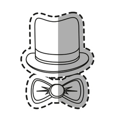Isolated hat and bowtie design vector