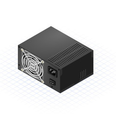 Isometric Power Supply vector image