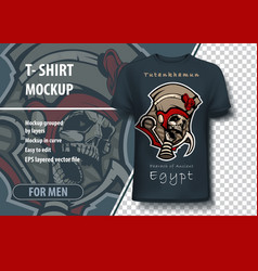 Layout for printing on t-shirts ancient vector