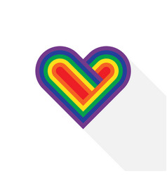 lgbt community heart symbol flat design vector image