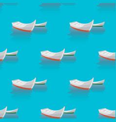 marine print seamless pattern boat sailing in vector image