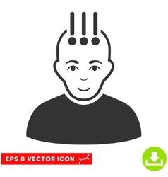 Neural Interface EPS Icon vector