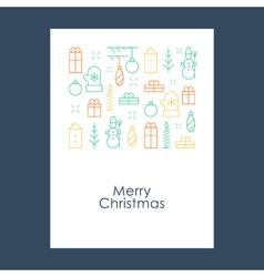 New Year Christmas pattern Xmas minimalistic vector