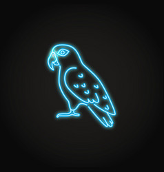 Pionus parrot icon in glowing neon style vector