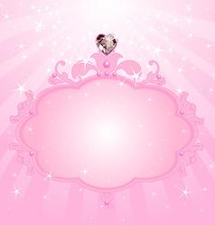 Princess pink frame vector image