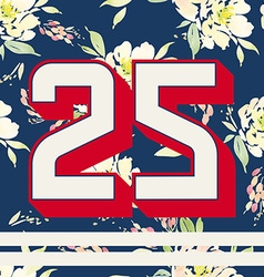 Print for T-shirts with numbers Modern design vector image