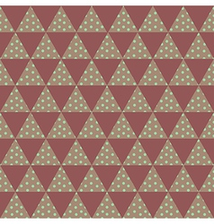 Red triangle pattern vector