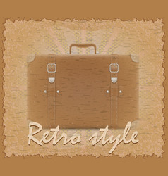 Retro style poster old suitcase vector