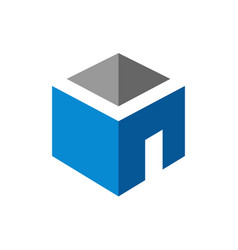 room logo building with door symbol vector image