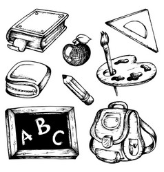 school drawings collection 1 vector image