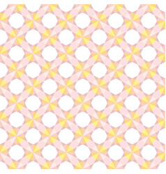 seamless pink and yellow geometrical pattern vector image