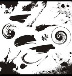 set of grunge design elements vector image vector image