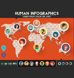 social networks users infographics trendy vector image