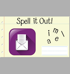 Spell english word email vector