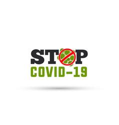 Stop corona virus design vector