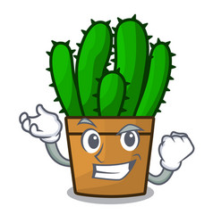 Successful character spurge cactus home decor vector
