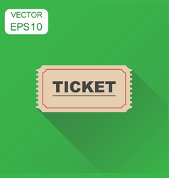 Ticket icon business concept admit one ticket vector