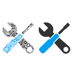 tools composition of repair tools vector image