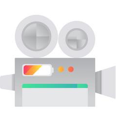 video camera icon camcorder flat symbol vector image