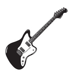 vintage american electric guitar vector image