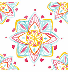 Watercolor native indian pattern vector