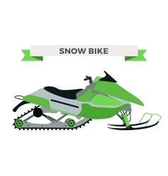 winter snow motorcycle vector image