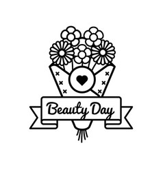 World beauty day greeting emblem vector