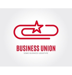 Abstract clip logo template for branding vector